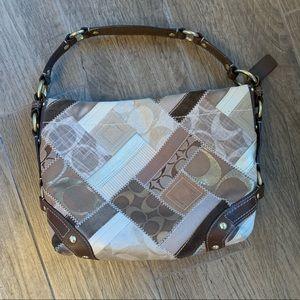 Nude Patchwork colored Coach Handbag